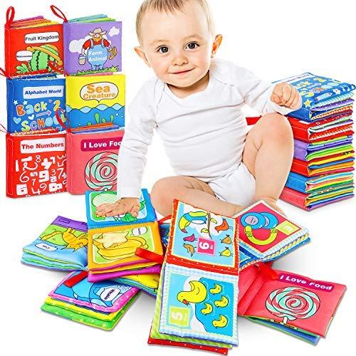 Bambino Cognition libro 6 Pezzi Stoffa Morbido per Bambino Intelligence Development/Learning &...