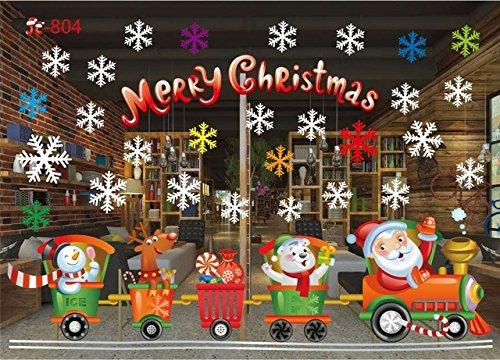 hfwh Adesivo da Parete, Città della Neve DIY, Buon Natale Decorazioni, Rimovibile, Regalo di Natale...