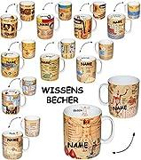 alles-meine.de GmbH Henkeltasse -  Mathematik - Daten & Fakten  - incl. Name - 460 ml - groß - Porzellan / Keramik - Schule - Mathe - Uni - Hochschule Abitur - Kaffeetasse - Gy..
