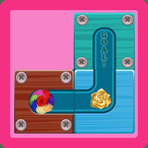 Sliding block puzzle: rose style