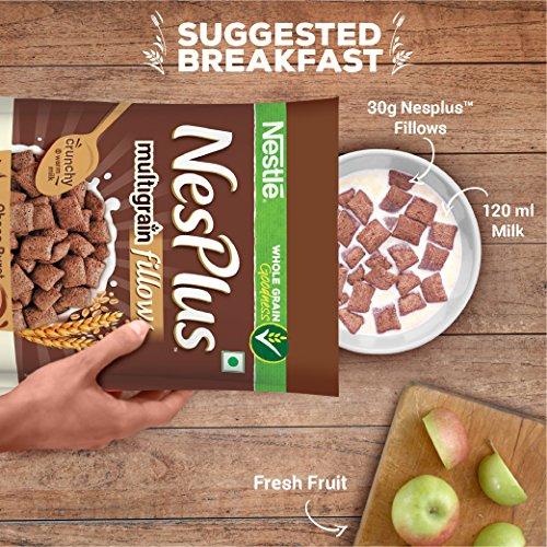Nestlé NesPlus Breakfast Cereal, Multigrain Fillows - Choco-Burst, 250g Pouch 6