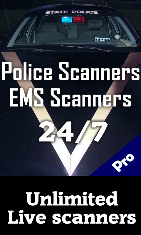 Police scanner app for android & kindle fire -Live Police Scanners and Police Radio, Fire Radio and 911 Emergency, EMS, whether and more Screenshot