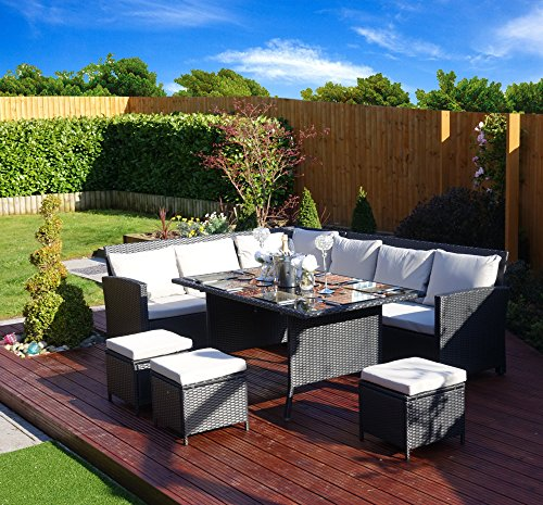 9 seater rattan corner garden sofa dining set furniture for 9 seater sofa set