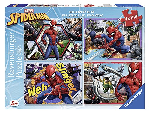 Ravensburger Italy- Quattro Puzzle di Spiderman, 06914 9