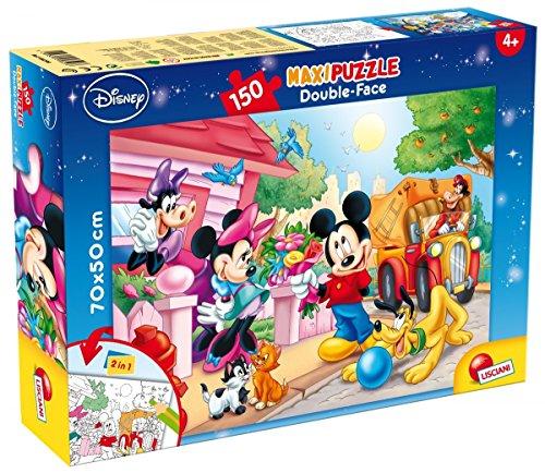 Lisciani Giochi 48328 - Mickey Puzzle Doppia Faccia Supermaxi, 150 Pezzi