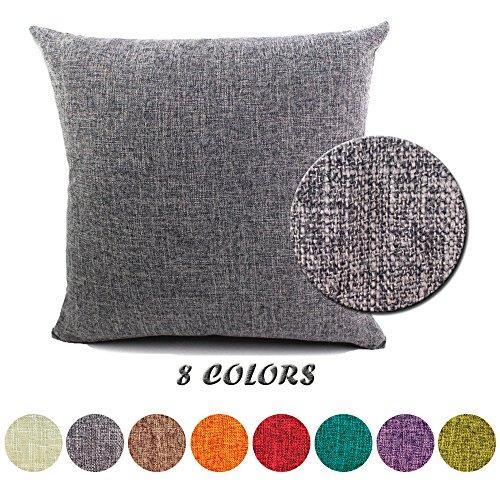 JT Federe per cuscini Moda Vintage di Cotone Lino Divano Federa Cuscino Letto Geometria Rettangolari Cuscini e federe 60x60cm Grigio