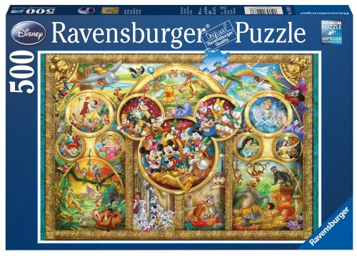 Ravensburger - Puzzle, La famiglia Disney, 500 pezzi
