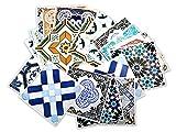 Adhesivos para Azulejos - Paquetes con 32 (10 x 10 cm, Azulejos Españoles   Adhesivos para Pared   Tradicionales Españoles   Decoración de Interiores   Ideas Decorativas   Modelo Español)