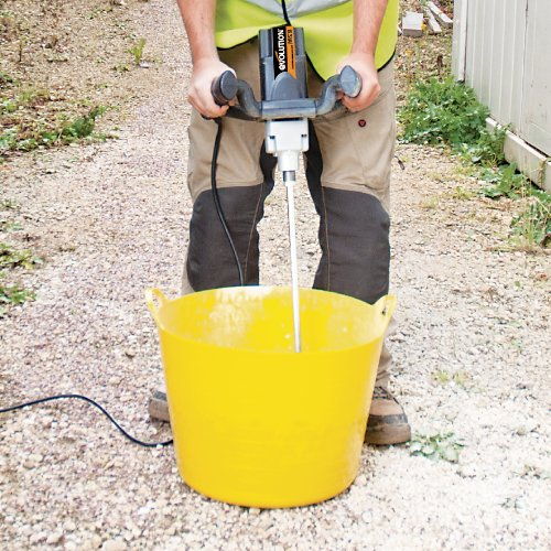 This plaster mixer is pretty decent and offers just enough power for light plastering jobs. You can go with either the 110V or the 220V depending on your need. We like the ergonomics including a soft grip handle for comfortable use. Variable speed control is the major selling point here, allowing you match the speed to the material at hand. The supplied paddles are really beneficial and even the 2-year product warranty is decent. We found that the whisker is quite small but that may not be a serious issue because the tool isn't for industrial applications. Overall, amazing mixer in the mid-range price.