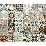 Ambiance-Live Cuadros de Cemento Adhesivos para Pared,Azulejos,15x 15cm,30Piezas