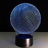 ZQQ 3D LED Luce di notte Basket Ottico Illusione Lampada da tavolo 7 Colore cambiando con Acrilico per Bambini Visione Lampada del comodino , Touch and Remote