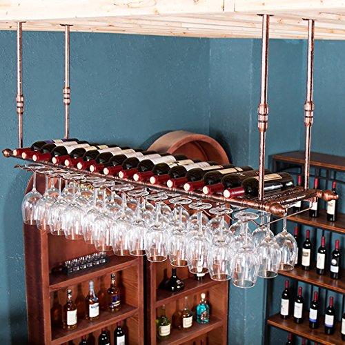 Portabottiglie sospeso Portabottiglie, porta bicchieri, calici creativi, portabottiglie per bar da...