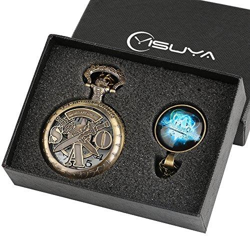 Sword Art Online orologio da tasca per ragazzi set regalo per giovani ragazzi Hollow bronzo Sao Fob...