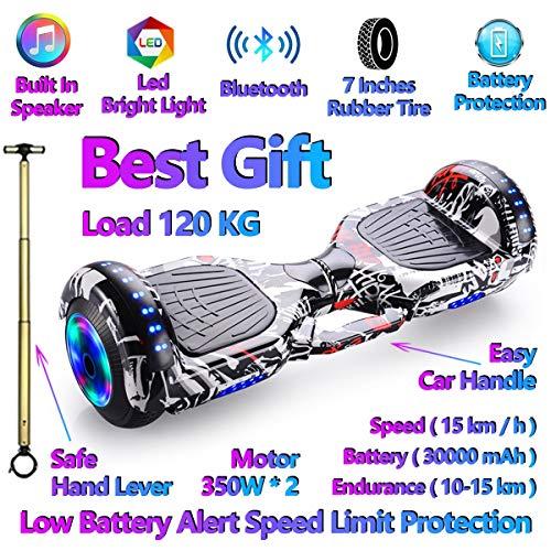 Elettrico intelligente autobilanciante Scooter Hoverboard, Bluetooth incorporato Altoparlante, Ruote...