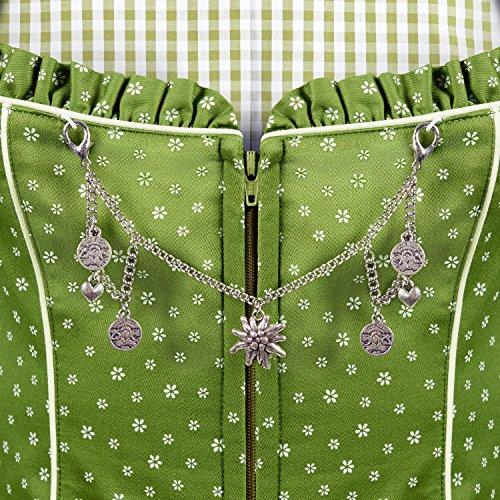 ALMBOCK Trachten Mieder Damen grün | Stretch Trachtenmieder in grün | Tracht Weste für Dirndl - 3