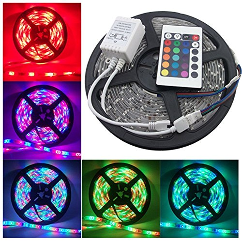 ascension Waterproof RGB Remote Control LED Strip Light for Home Decoration (5 m)