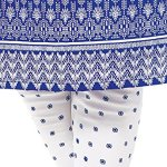 Ishin Women's Dress Material (Daramb1509R_Blue & White_One Size)