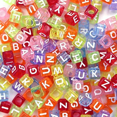 58fae71984c1 500 Piezas Abalorios Letras Cuentas de Plástico Abalorios de Colores ...