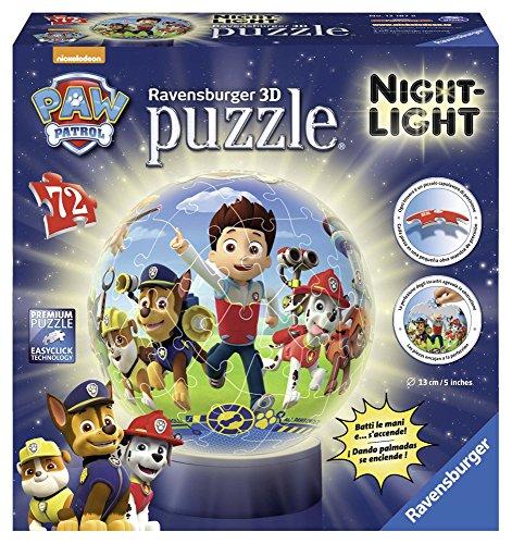 Ravensburger 12187 - Paw Patrol Lampada Notturna Puzzle 3D