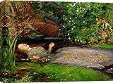 Art Print Cafe - Quadro - Stampa su Tela - John Everett Millais, Ofelia - 60x40 cm