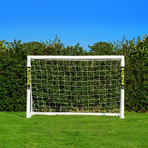 Easy to set up, weatherproof and with the options of purchasing with carry bag, target sheet and football, this football goal is a mind-blowing offer at a decent price.