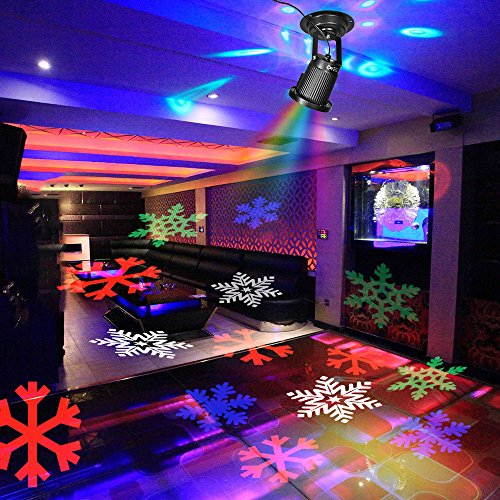 projecteur no l led ext rieur lampe spot d ambiance imperm able avec flocons de neige jeu de. Black Bedroom Furniture Sets. Home Design Ideas