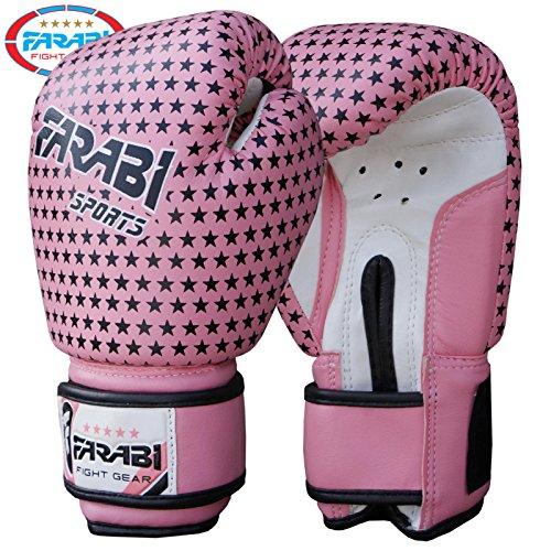 Bambini, guanti da sparring MMA muay thai, Junior-Guanti da kickboxing poinçonnage dei mezzi guanti...