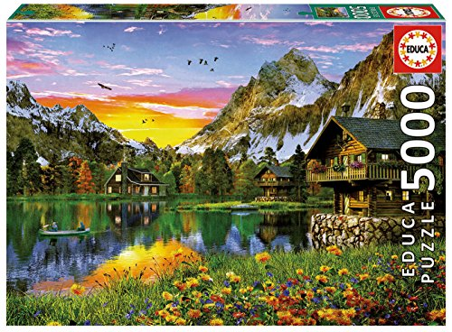Educa Borras-5000 Alpine Lake Puzzle, Colore Various, Unica 17678