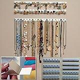 9 in 1adesiva, espositore per gioielli di pasta da parete con ganci Ganci espositore per gioielli collana gancio