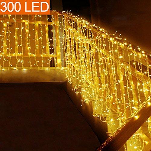 MOVEONSTEP Catena Luminosa 300 Led 33m Stringa Luce Bianco Caldo 8 Modalità Impermeabili Decorativa...