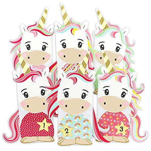 Papierdrachen Diy Einhorn Adventskalender Zum Befüllen Zum Selber Basteln Mit 24 Tüten Zum Individuellen Gestalten Und Zum Selber Füllen