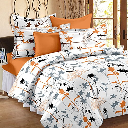 Story@ Home White 186 TC 100% Cotton 1 Double Bedsheet With 2 Pillow Cover
