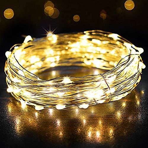 Catene Luminose 12m, OMERIL Luci Stringa 120 LEDs Illuminazione Giardino con Interruttori,...