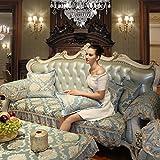 FPNMKGKDF Encaje Vintage Suede sofá Cubierta,Cubierta del sofá del Telar jacquar Invierno Estilo Europeo Cojines de sofá Tela Anti-Que Patina Simple Moderno Todos Sofá-A 90x180cm(35x71inch)