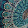 Indian Mandala Wall Hanging Tapestry, Hippie Hippy Tapestries, Feather Peacock Print Tapestry, Cotton Handmade Badsheet, Twin Size Bedding Bedspread, Picnic Beach Sheet, Table Cloth, Decorative Wall Hanging, 54x86 Inch. By Bhagyoday by BhagyodayFashions 3