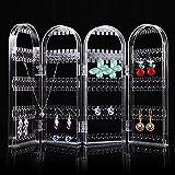 Lanlan Clear Screen gioielli orecchino supporto cremagliera 240fori orecchini espositore organizer perfetto per collana bracciale pieghevole a spicchi