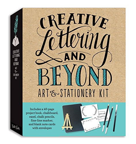 Creative Lettering and Beyond Art & Stationery Kit: Includes a 40-page Project Book, Chalkboard,...