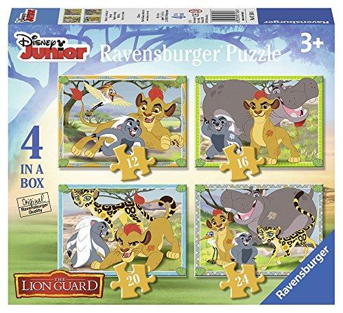 Ravensburger Italy Puzzle per Bambini-4 in a Box, Multicolore, 07158