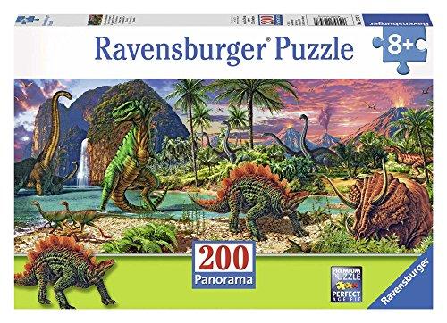 Ravensburger Italy Nel Paese dei Dinosauri Panorama Puzzle, 200 Pezzi, 12747