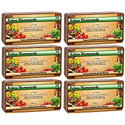 Tierra de coco para plantas, plantas de interior, paquete de 6 unidades (6x 600g), tierra ligera libre de turba, para macetas, cultivo, siembra, bancal o maceteros (para aprox. 50l),sin diluir.