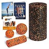 Blackroll Orange Starter Set - mit 2x Faszien-Rolle & 2x Massageball für Faszientraining - inkl. Anleitung, eBook und App