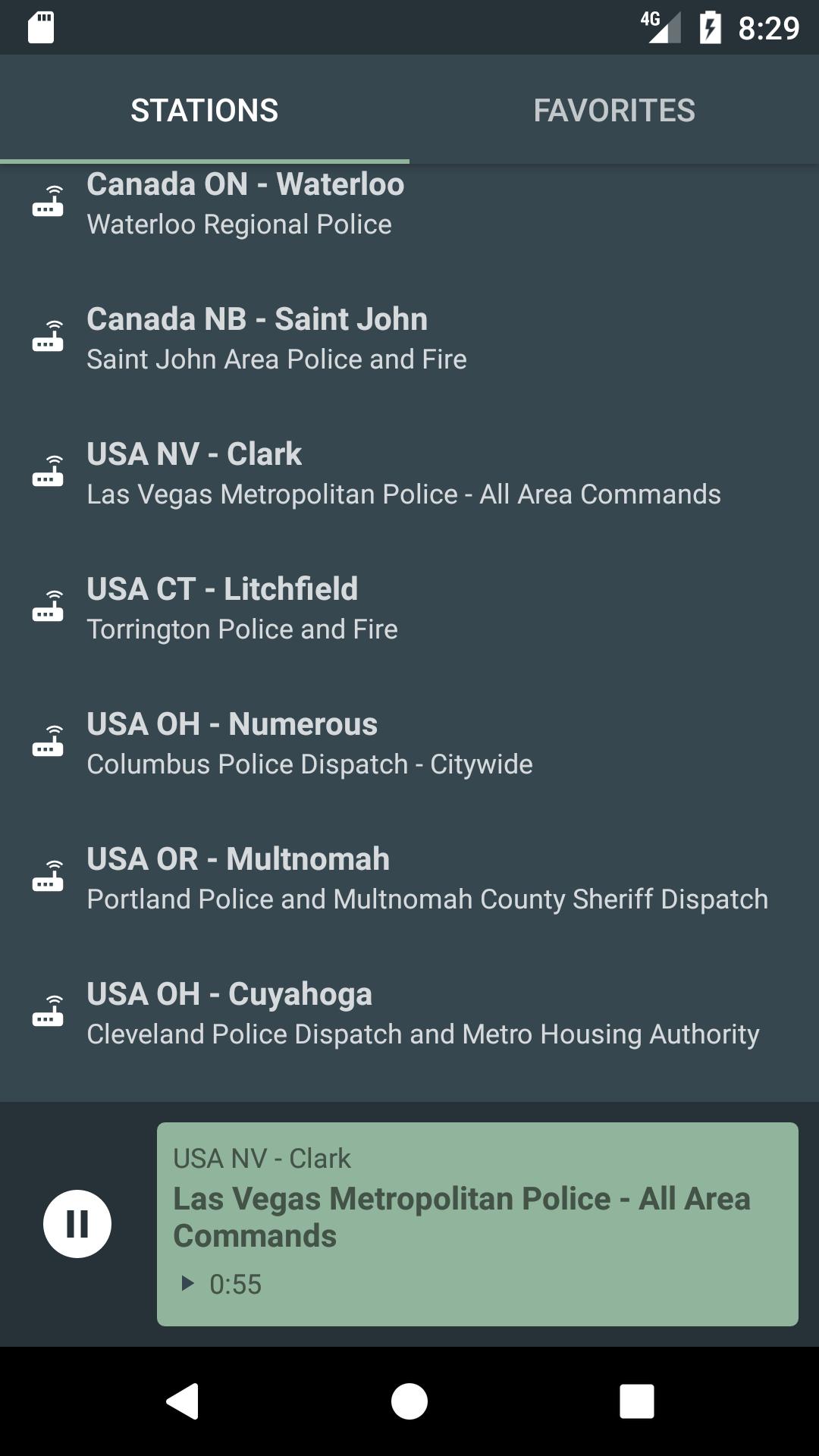 POLICE  RADIO SCANNER Screenshot