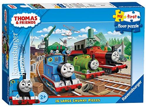 Ravensburger - Puzzle da pavimento Il trenino Thomas e i suoi amici, 16 pezzi