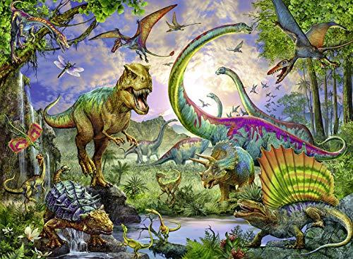 Ravensburger 12718 - Nel regno dei giganti, Dinosauri Puzzle 200 pezzi XXL