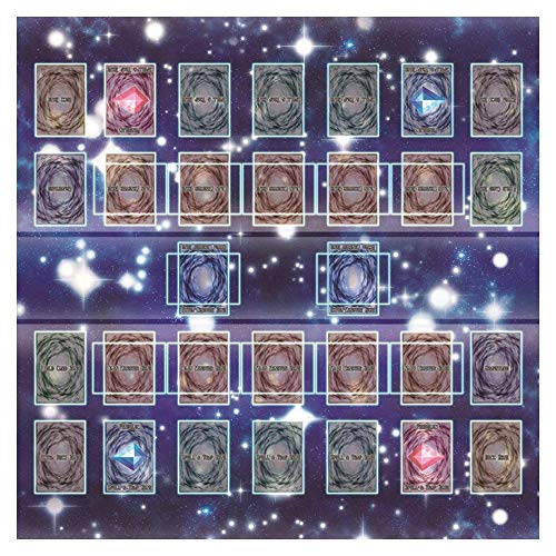TianranRT Rubber Play Mat 60x60cm Galaxy Style Competition Pad Playmat for Yu-gi-oh Card