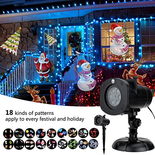 christmas decoration halloween projector 12 mode rotating projector spotlight waterproof led landscape light - Christmas Decoration Projector