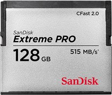 Sandisk 128GB Extreme Pro, CFast 2.0 128GB memoria flash - Tarjeta de memoria (CFast 2.0, 128 GB, CFast 2.0, 515 MB/s, Negro, Plata)