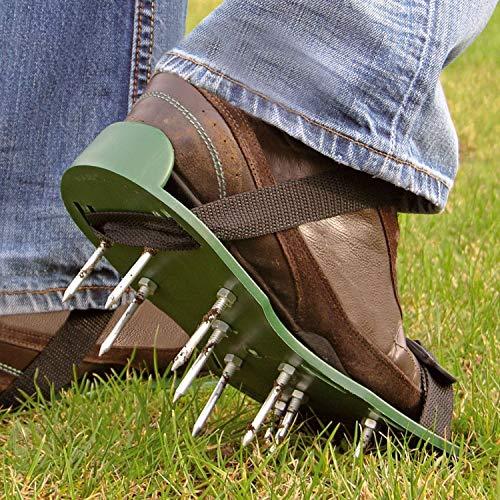 Zapatos Parkland® con picos para jardín y césped aireador, zapatos respirables–2correas ajustables, 13 x 5 cm de profundidad en los picos.