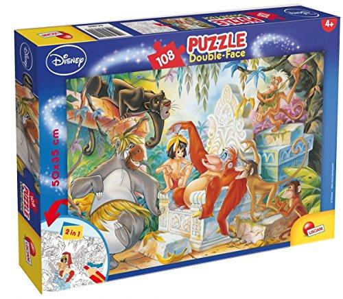 Lisciani Giochi 48045 - Libro Giungla Puzzle Doppia Faccia Plus, 108 Pezzi