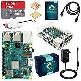 LABISTS Raspberry Pi 3 B+ Starter Kit Scheda Madre con MicroSD Card 16GB, Custodia Trasparente, Alimentatore 5V 3A con Interruttore, Cavo HDMI e Lettore Schede di Memoria Micro SD